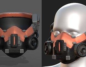 3D asset Gas mask scifi futuristic military
