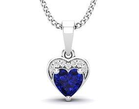 Heart Diamond pendant for woman 3D print model