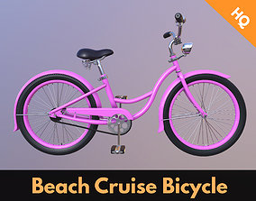 Beach Cruiser Bicycle Vintage Ladies Bike 3D model