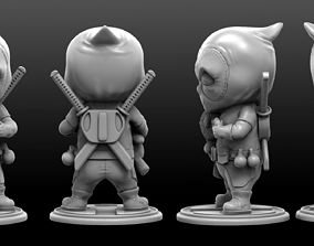 art Deadpool chibi badass 3d print model