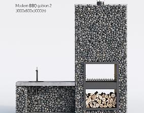 Modern BBQ gabion 2 3D model