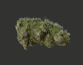 HD Floating Mossy Rock 06 191205 3D model