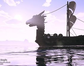 vehicle 3D model Viking ship