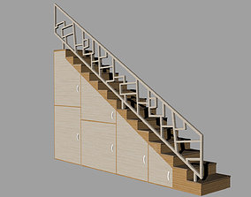 STAIRS CABINET wood 3D model