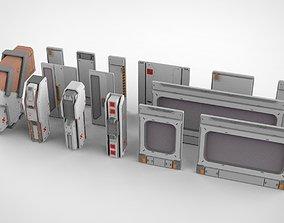 3D sci-fi Architectural element 15