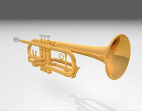 3D Trumpet - Musical Instrument