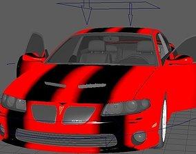 car rig model rigged game-ready