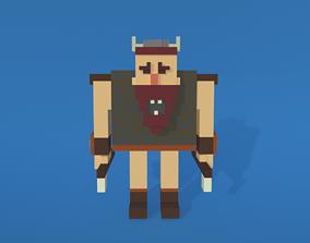 Voxel Viking Man 3D asset