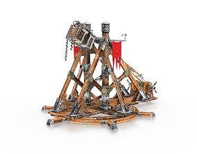 3D asset Medievil Trebuchet