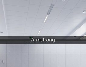 Ceiling system Armstrong 3D asset