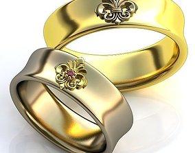 gold Gold Metal Rings 3D print model