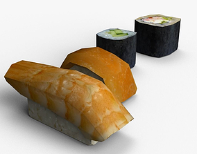 Sushi Low-Poly 3D model