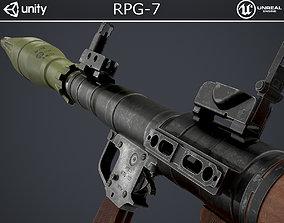 3D model game-ready PBR RPG-7