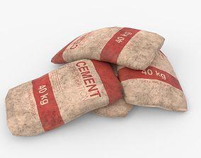 Cement Bags 3D model