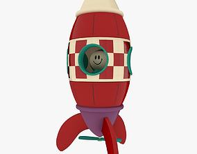 3D asset Toy Rocket