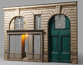 3D Arched facade with shop