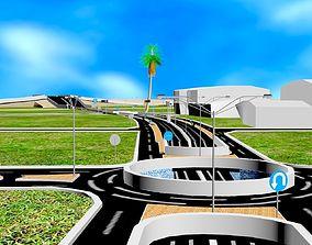 3D model plan high way - engineering