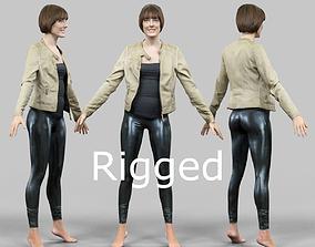 Rigged Legging Girl 3D model