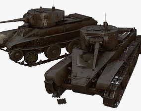3D model Battle Worn Tanks BT-7