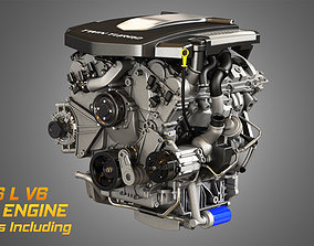 XTS Engine - V6 Twin Turbo Engine 3D