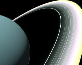 3D asset Low Poly Uranus