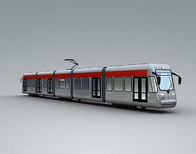 3D asset Low Poly Tram 4