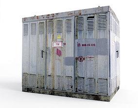 Transformer substation 3D asset