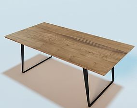 ECHOES wooden dining table 3D model