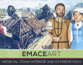 Slavic Medieval Village Town Interior and 3D model 1