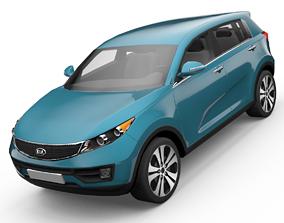 KIA Sportage SUV 3D Model animated