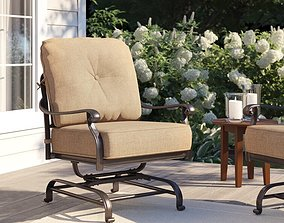 3D Lebanon Spring Base Club Chair with Cushions