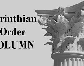 3D model building-component Corinthian order - COLUMN