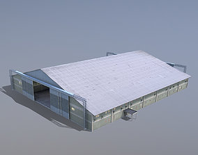 MilitaryBase PortoVelho Hangar 01 3D asset low-poly