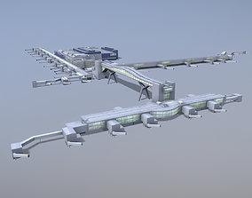 Airport Terminal EGKK North Terminal Gatwick 3D asset 1