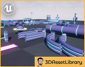 Fun Obstacle Course Expansion 2 For Unreal 3D model