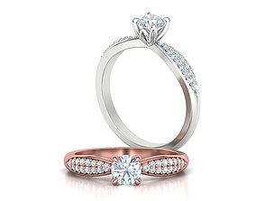 Diamond Engagement Ring 5mm Stone Own design 3dmodel