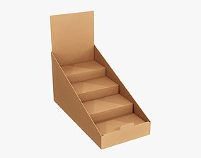 3D Product display stand cardboard 01
