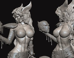 Angela Slayer Pose Woman Warrior 3D printable model