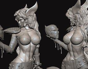 Angela Slayer Pose Woman Warrior 3D printable model