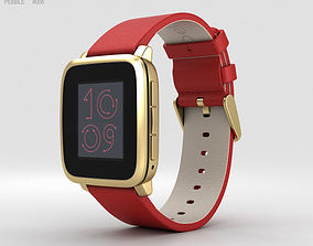 Pebble Time Steel Gold 3D