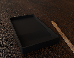 3D asset Chinese black Inkstone