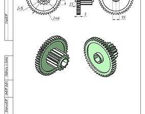 Gearwheel 46 and 15 3D printable model