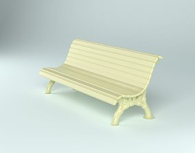 Classic garden bench for Architecture props 3D print model