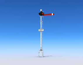 3D model realtime Railway Semaphore Signals