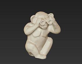 horoscope symbol blind monkey chinese 3D printable model 3