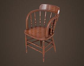 Old victorian chair 3D asset