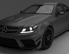 Mercedes Benz C63 3D asset game-ready