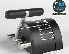 3D Engine control lever