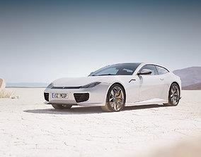 Luxury italian sport car unbranded 3D model