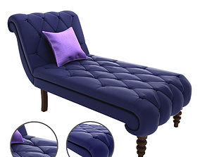 3D printable model Soapstone Curves Tufted Chaise